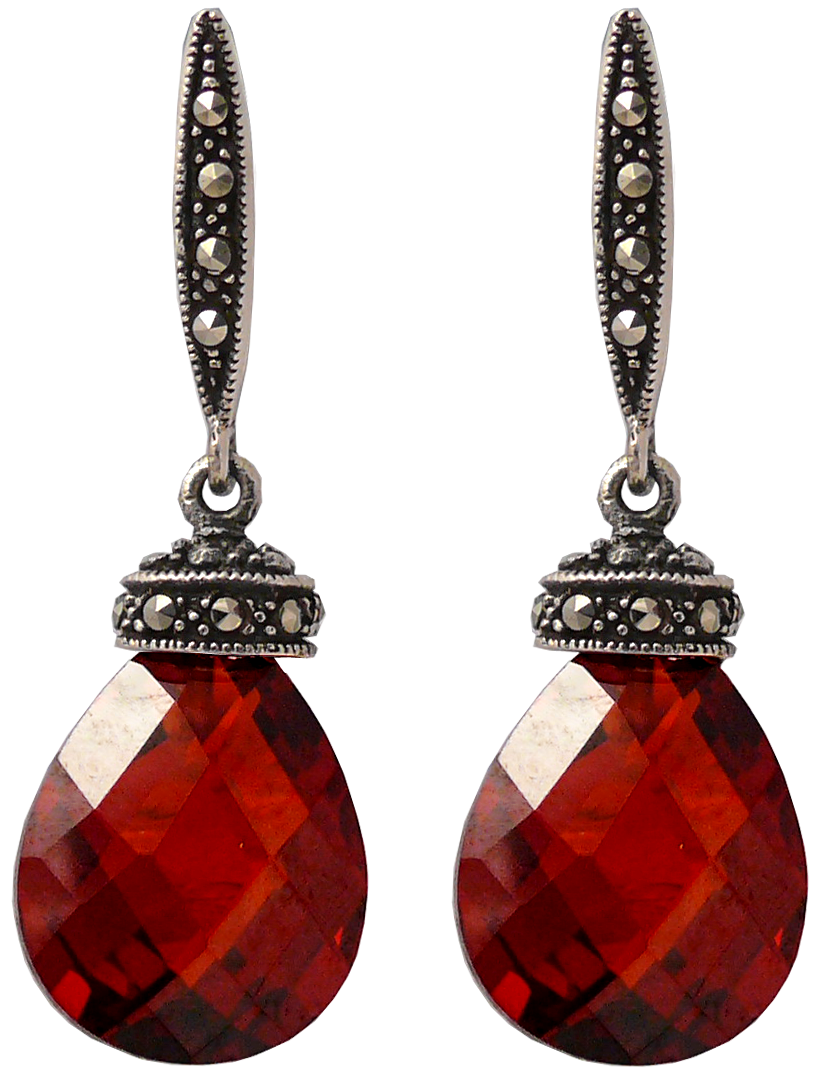 Red Antique Earrings