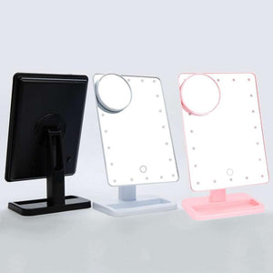 Magnifier LED Touch Screen Makeup Mirror