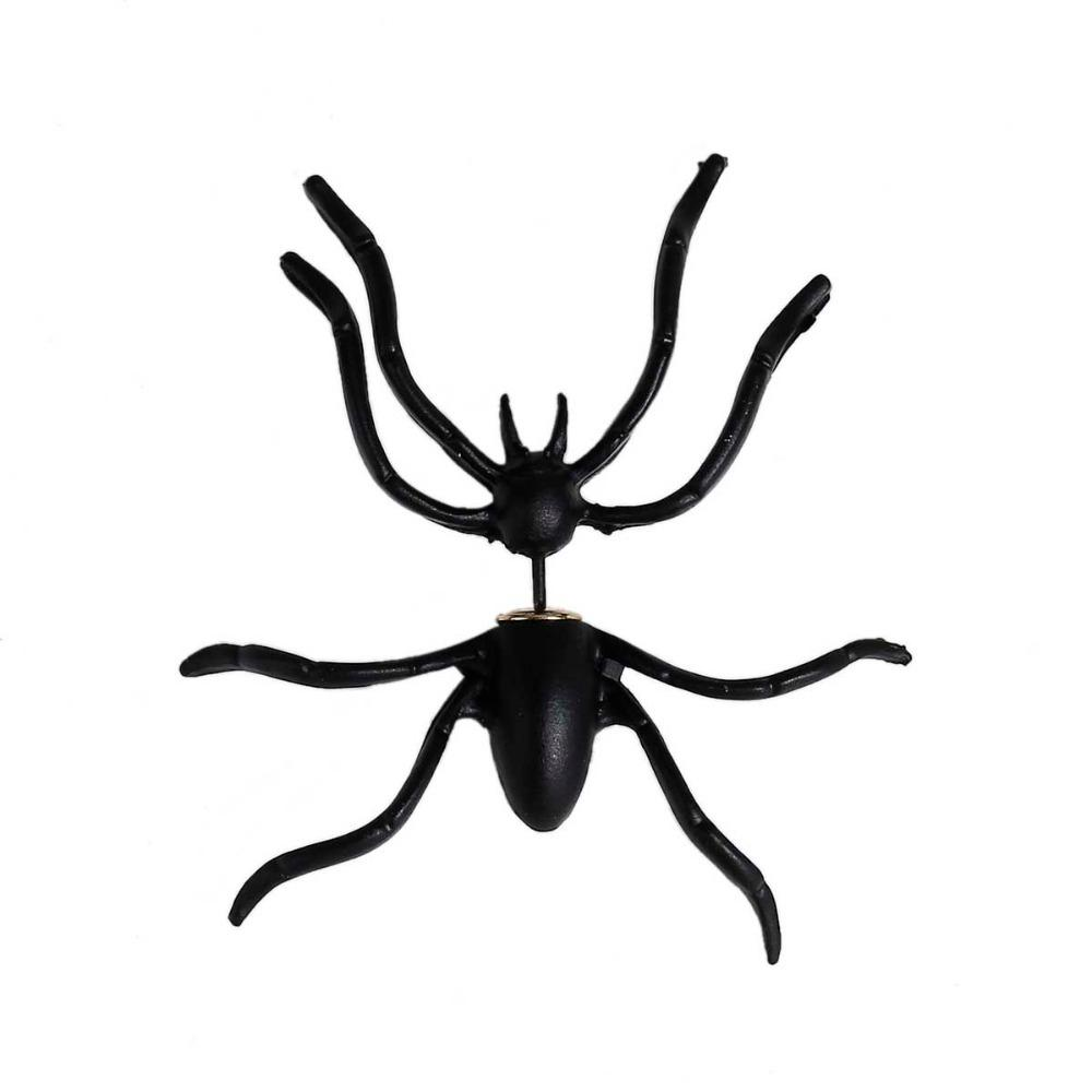 Punk Black Spider 3D Earrings