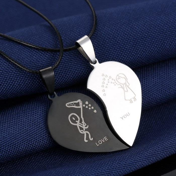 Engrave Love You Pendants Necklace