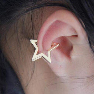 Punk Style Star Design Earrings Ear Cuff