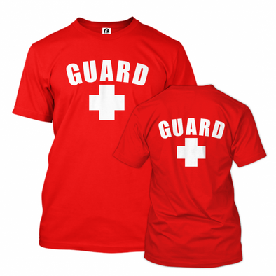 Men's Lifeguard T-Shirt w/ Front & Back - JustLifeguard