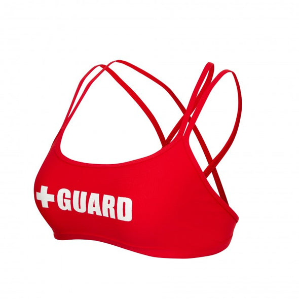Women's Lifeguard Swimsuit Double Cross Top, great lifeguard swimsuits for women, mix and match with our lifeguard costumes.