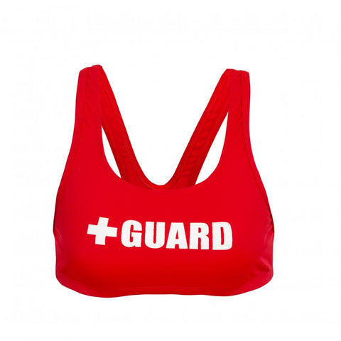Women's Lifeguard Swimsuit Wide Strap Top - JustLifeguard