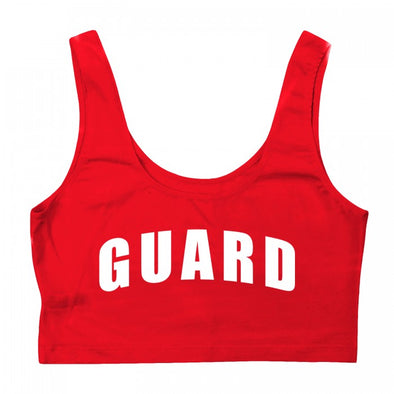 Women's Lifeguard Crop Tank Top - JustLifeguard