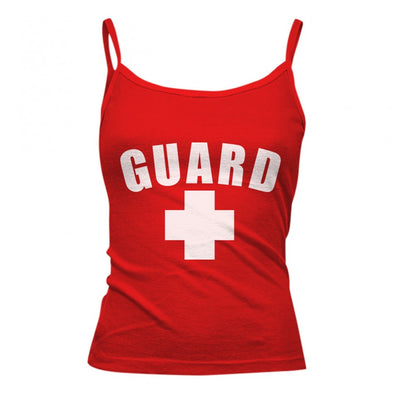 Women's Lifeguard Spaghetti Strap Tank Top - JustLifeguard