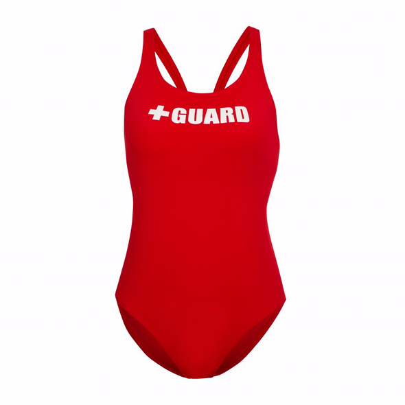 Women's Lifeguard Swimsuit Wide Straps 1PC - JustLifeguard