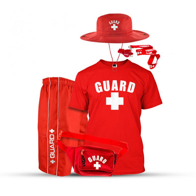 Men's Halloween Lifeguard Costumes, Lifeguard Shorts, Lifeguard Shirts, Lifeguard Whistles, Lifeguard Hats, Lifeguard Fanny pack, and it's great for halloween lifeguard costume party.