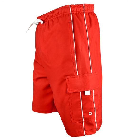 Men's Piped Lifeguard Board Shorts - JustLifeguard
