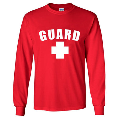 Men's Lifeguard Shirt Long Sleeves - JustLifeguard