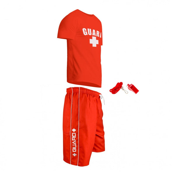 Men's Lifeguard Costumes, Lifeguard Shirts, Lifeguard Shorts, Lifeguard Whistle, and it's great for Halloween Costumes party.