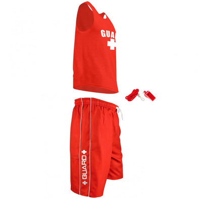 Men's Lifeguard Costumes, Lifeguard Tank Top, Lifeguard Shorts, and Lifeguard Whistle, and it's great for Halloween Costume party.