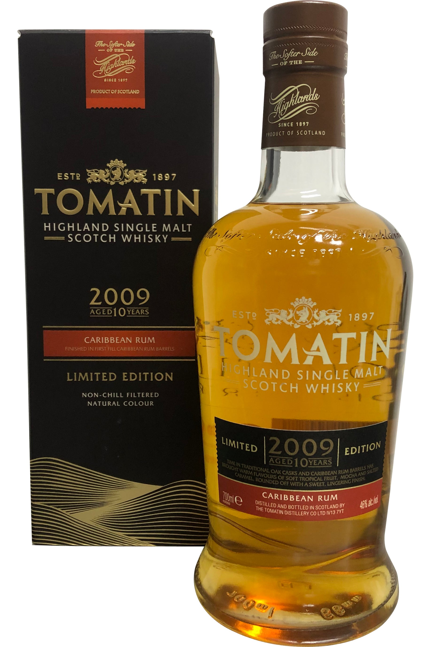 Tomatin 2009 Caribbean Rum Finish 10 Year Old 46% 700ml