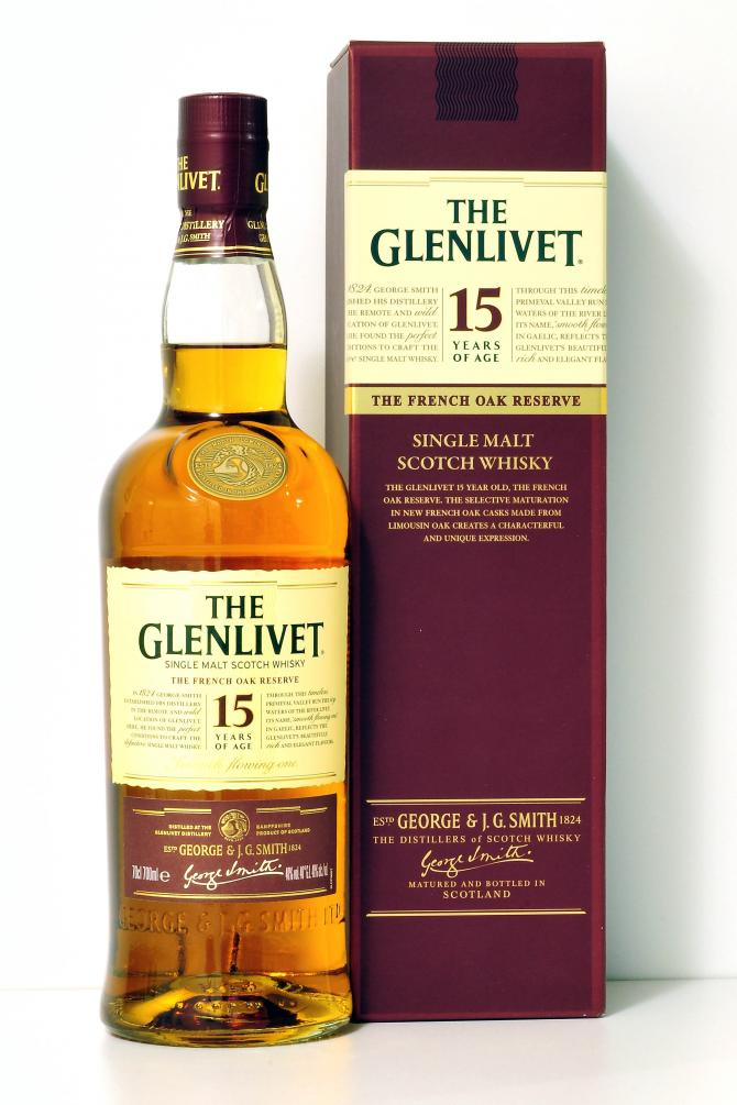 The Glenlivet 15 Year Old French Oak Reserve Whisky - 40% 700ml  Whisky