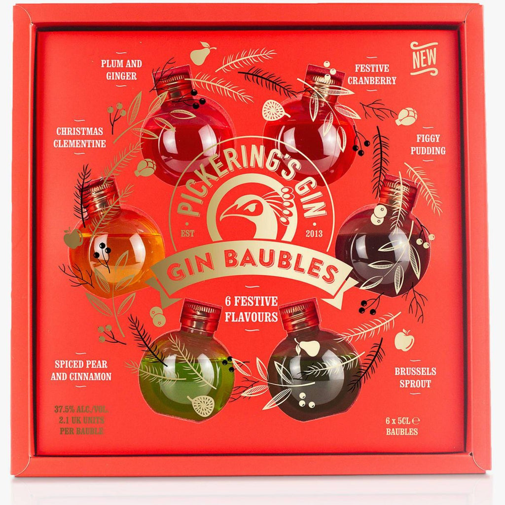 Pickering's Gin Baubles | 37.5% 6x50ml  Pickering's