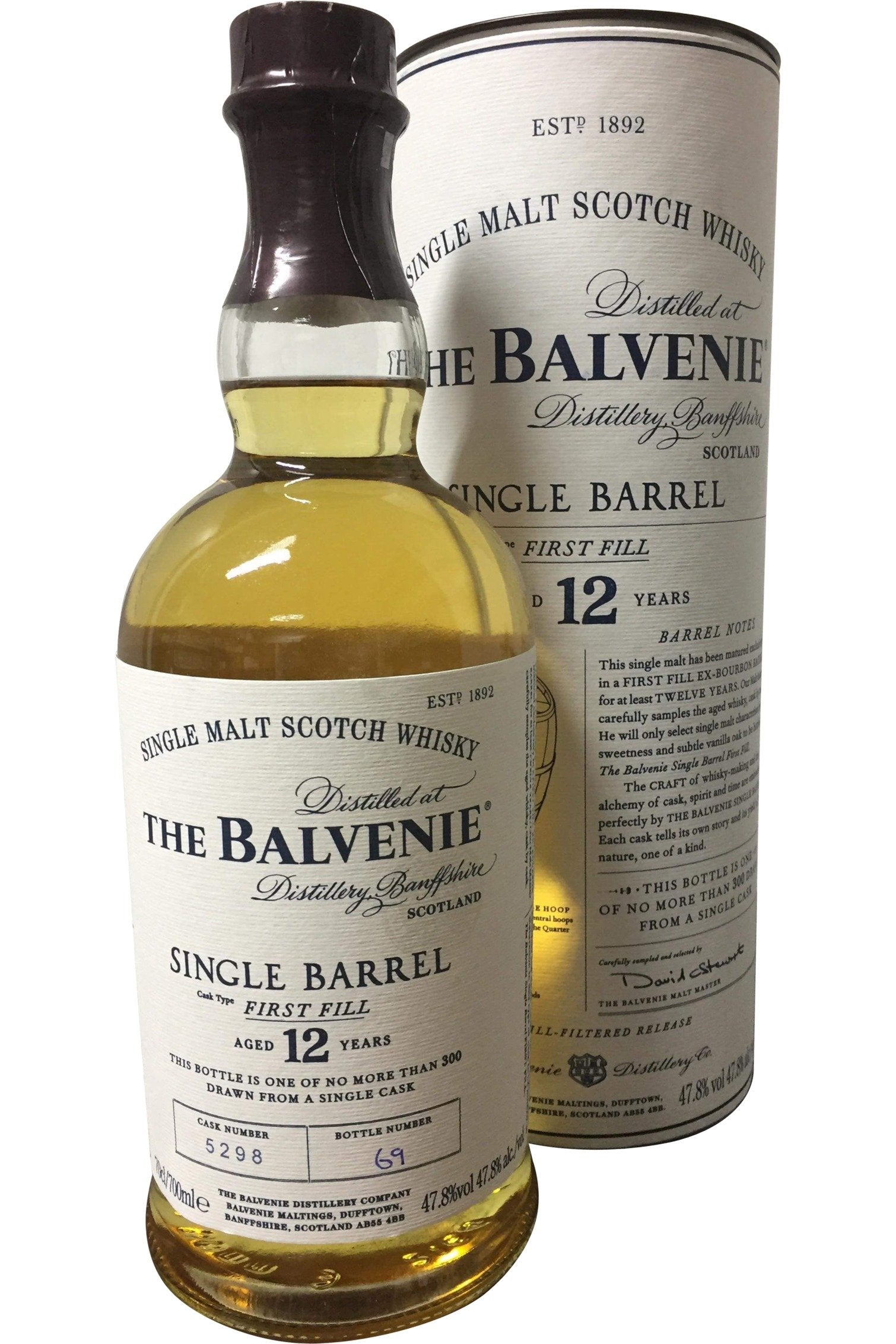 Balvenie 12 Year Old Single Barrel | 700ml 47.8%