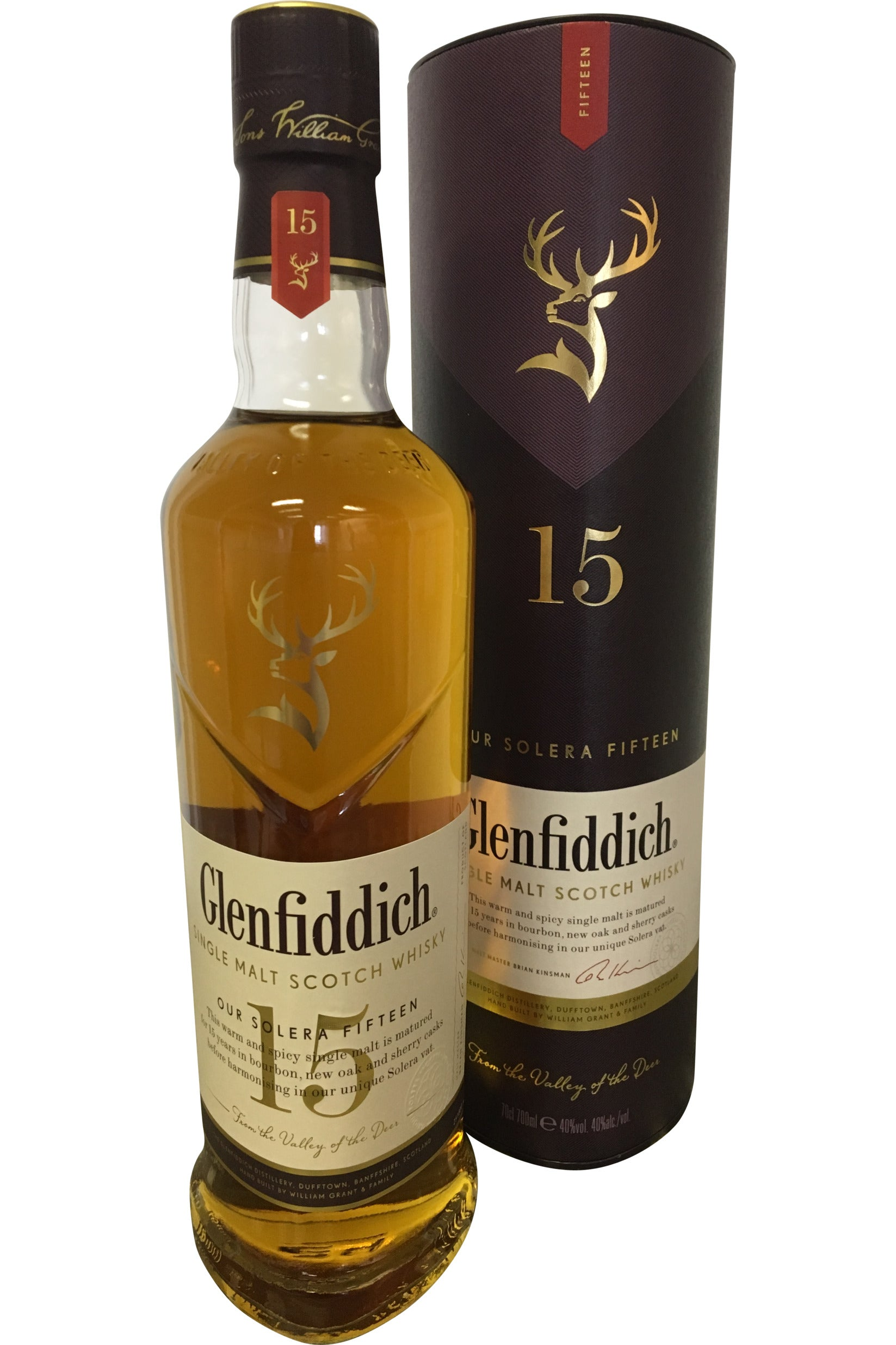 Glenfiddich 15 Year Old Solera Whisky - 40% 700ml