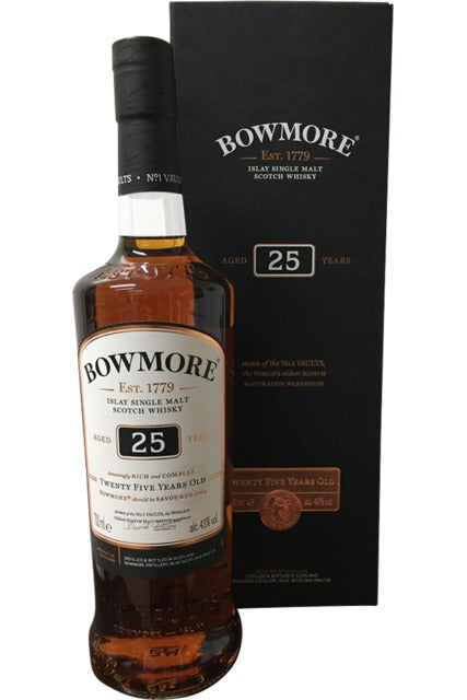 Bowmore 25 Year Old Whisky - 43% 700ml  Whisky