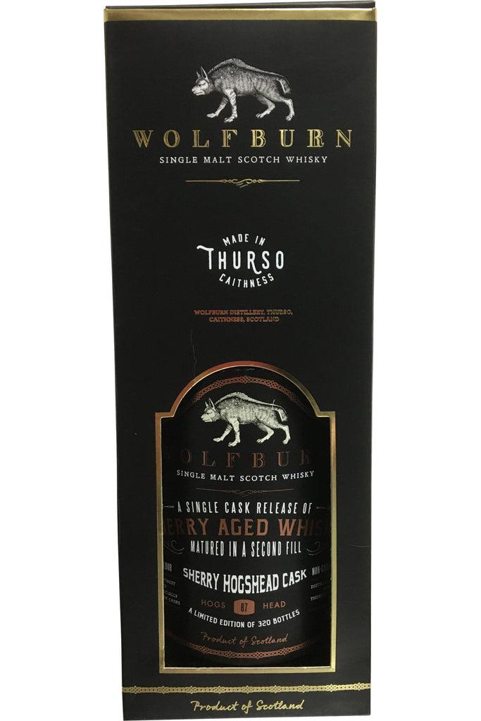 Wolfburn Single Cask Sherry Aged Whisky - 56.9% 700ml  Whisky