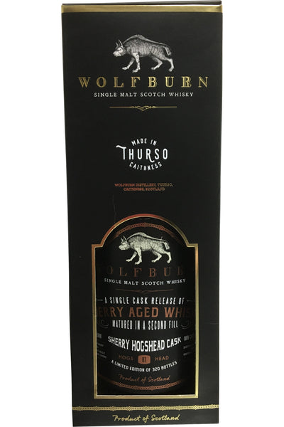 Wolfburn Single Cask Sherry Aged Whisky - 56.9% 700ml