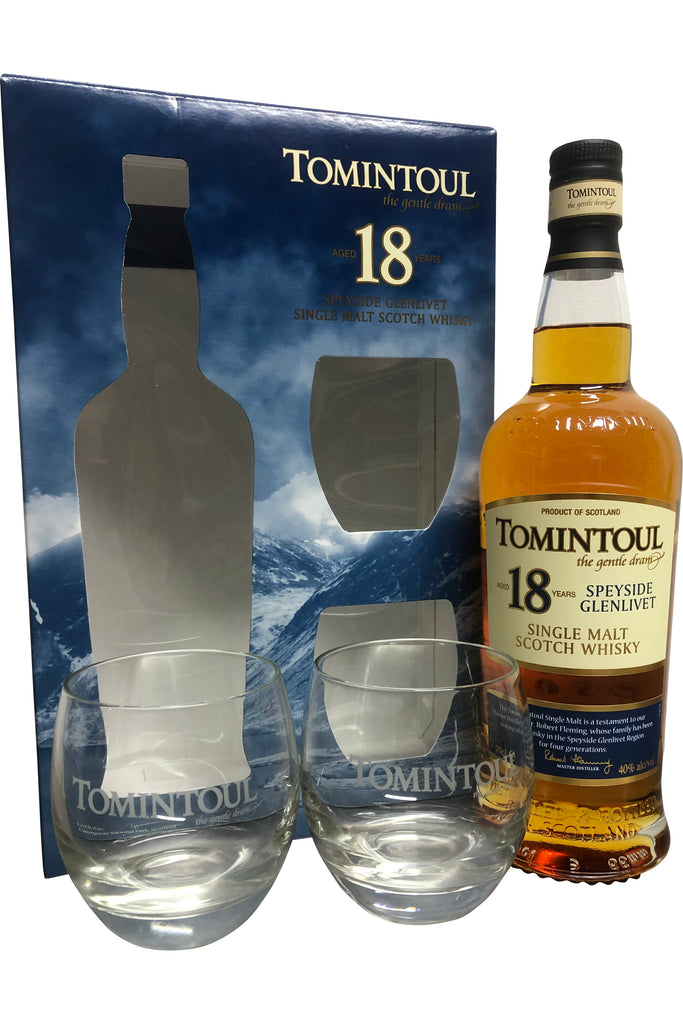Tomintoul 18 Year Old Gift Pack 40% 700ml  Whisky