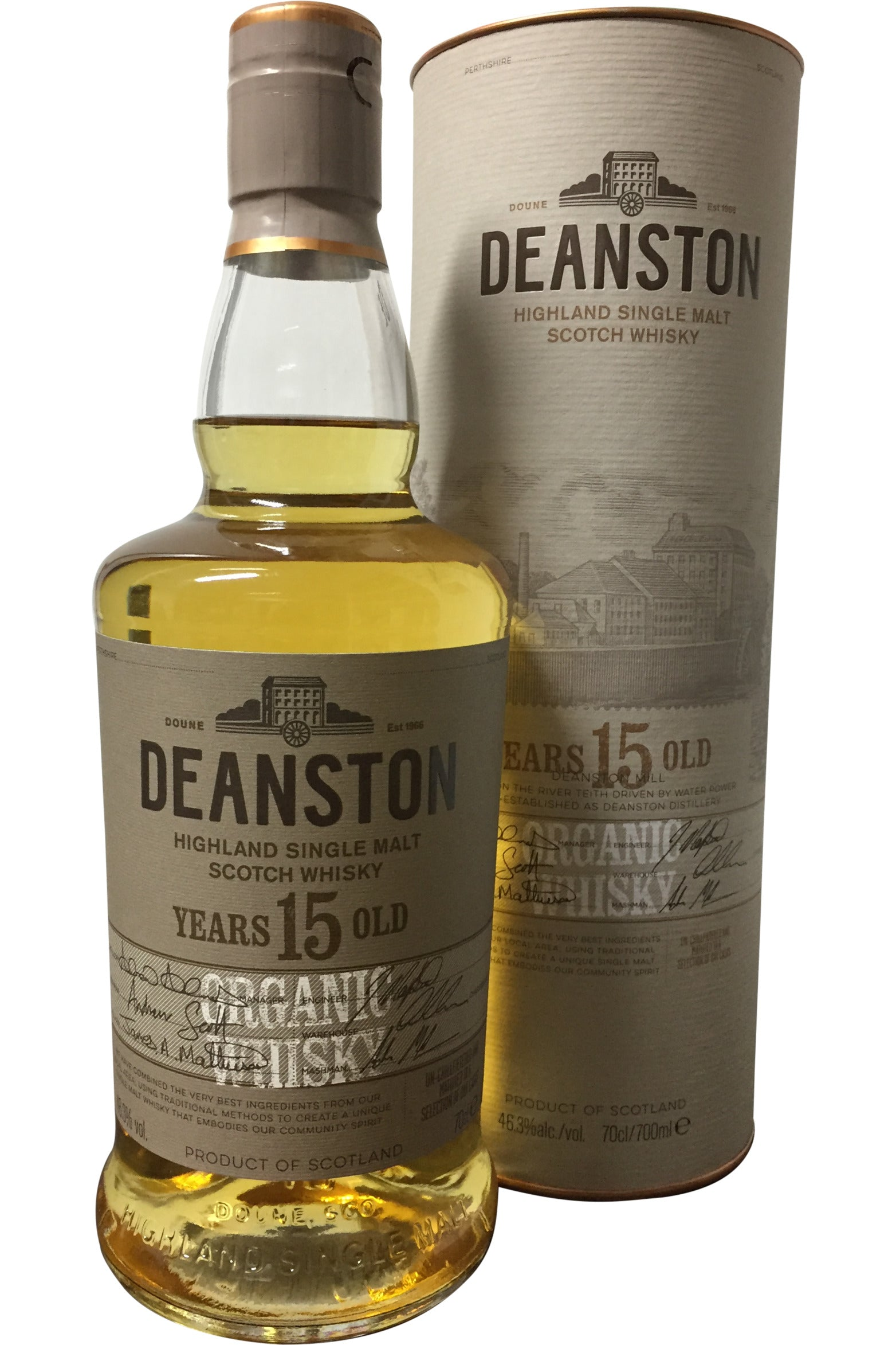 Deanston 15 Year Old Organic | 46.3% 700ml