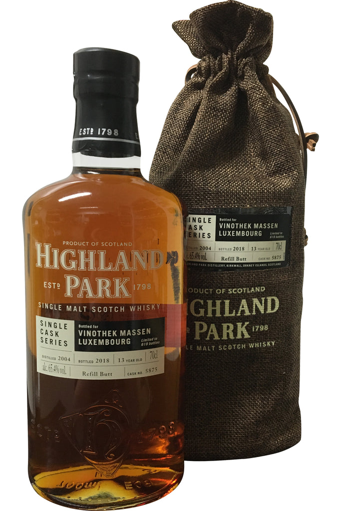 Highland Park Single Cask Series Vinothek Massen Luxembourg 13 Year Old #5875 - 65.4% 700ml  Whisky