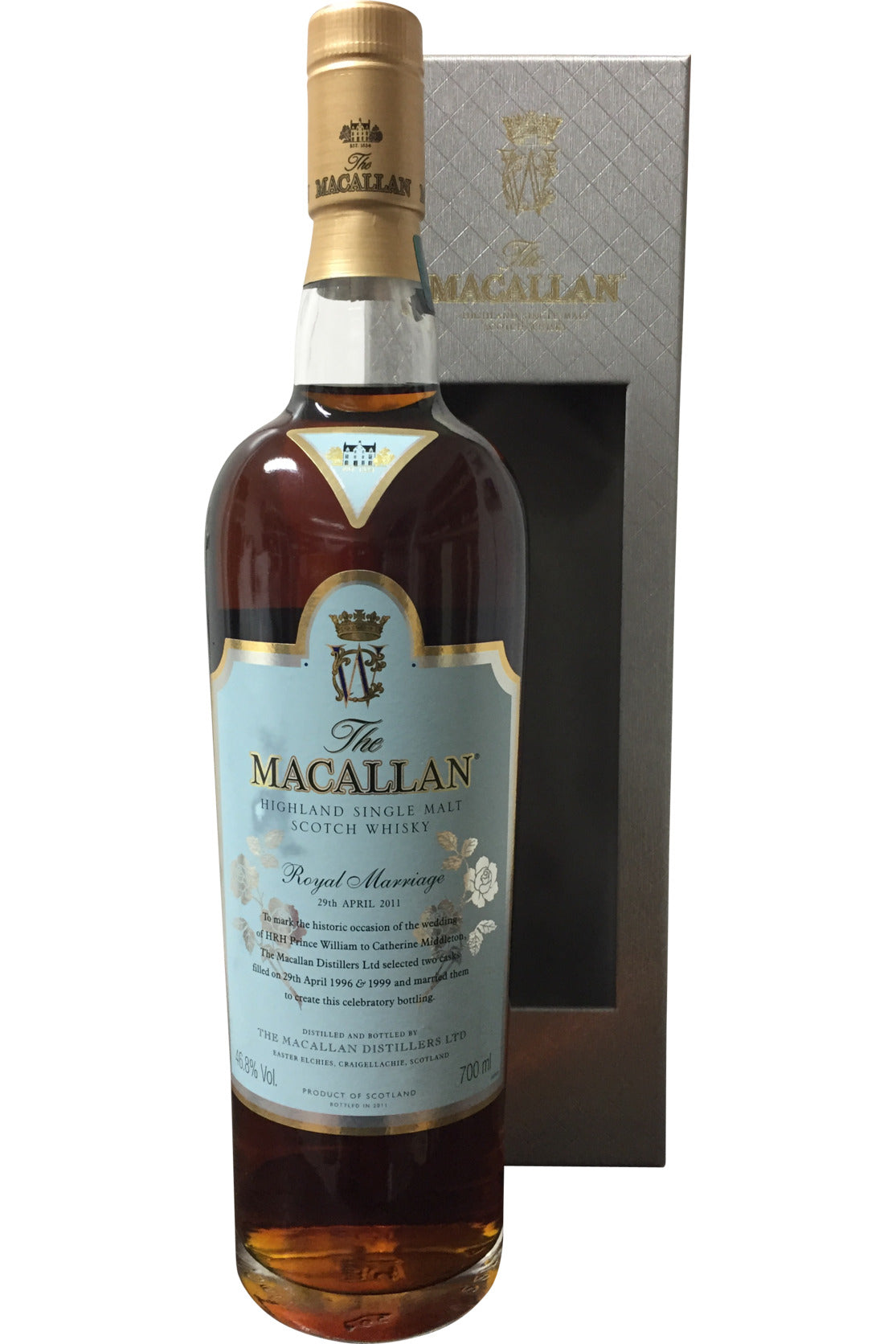 Macallan Royal Marriage 29th April 2011 Whisky - 46.8% 700ml