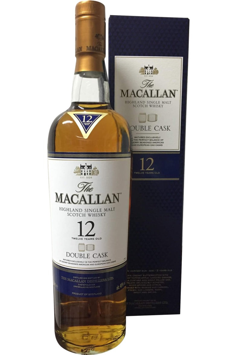 Macallan 12 Year Old Double Cask Whisky - 40% 700ml