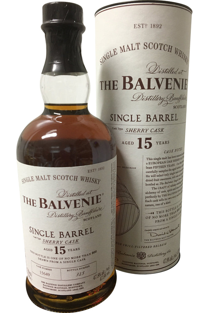 Balvenie 15 Year Old Single Barrel | 700ml 47.8%  Whisky
