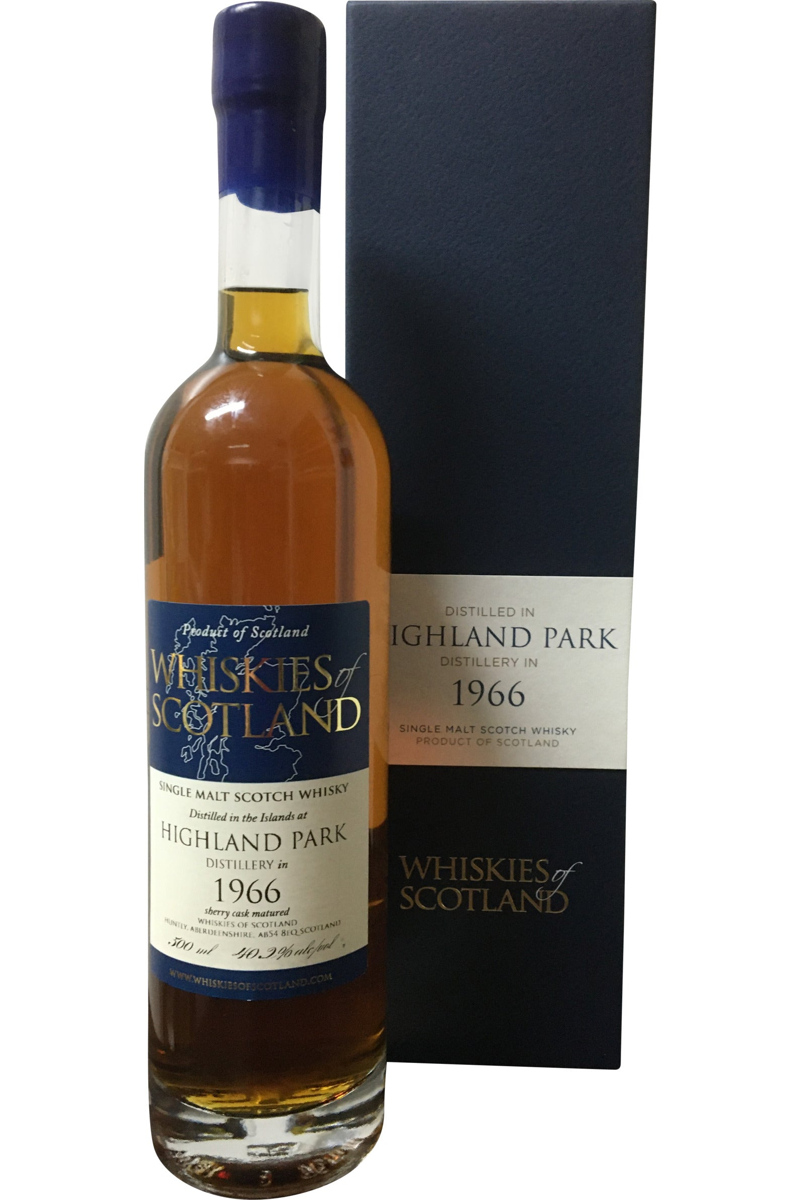 Whiskies of Scotland Highland Park 1966 - 40.2% 500ml - Award Winning