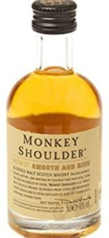 Monkey Shoulder Blended Whisky Miniature - 40% 50ml  Whisky