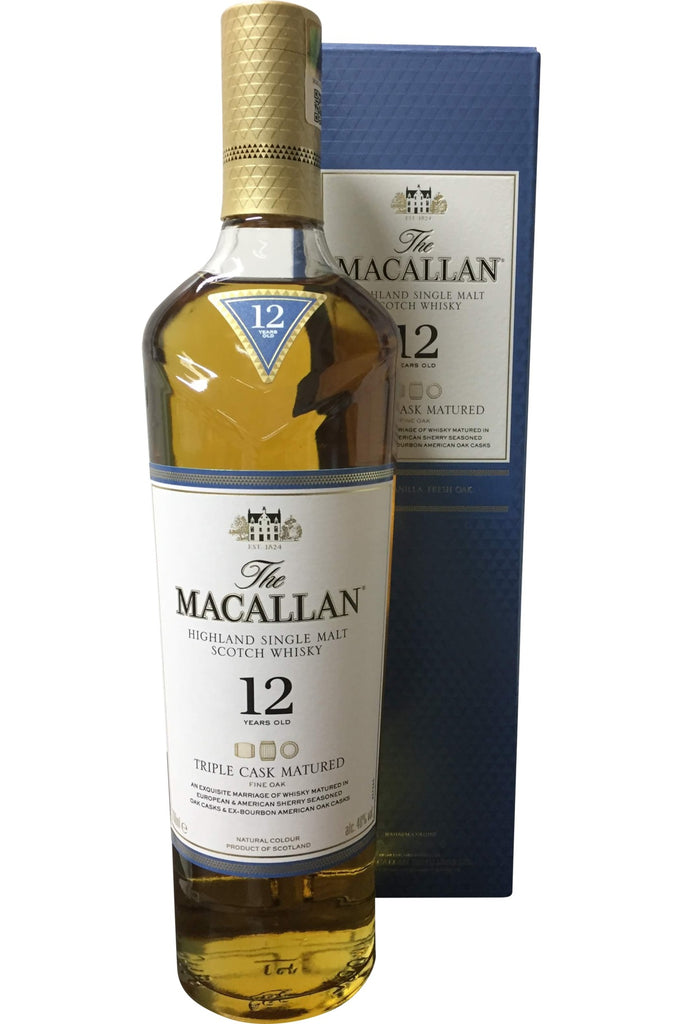 Macallan 12 Year Old Triple Cask Matured Fine Oak Whisky - 40% 700ml