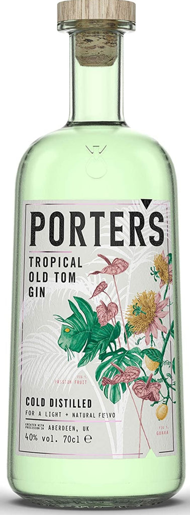 Porter's Tropical Old Tom Aberdeen Gin - 40% 700ml  Gin