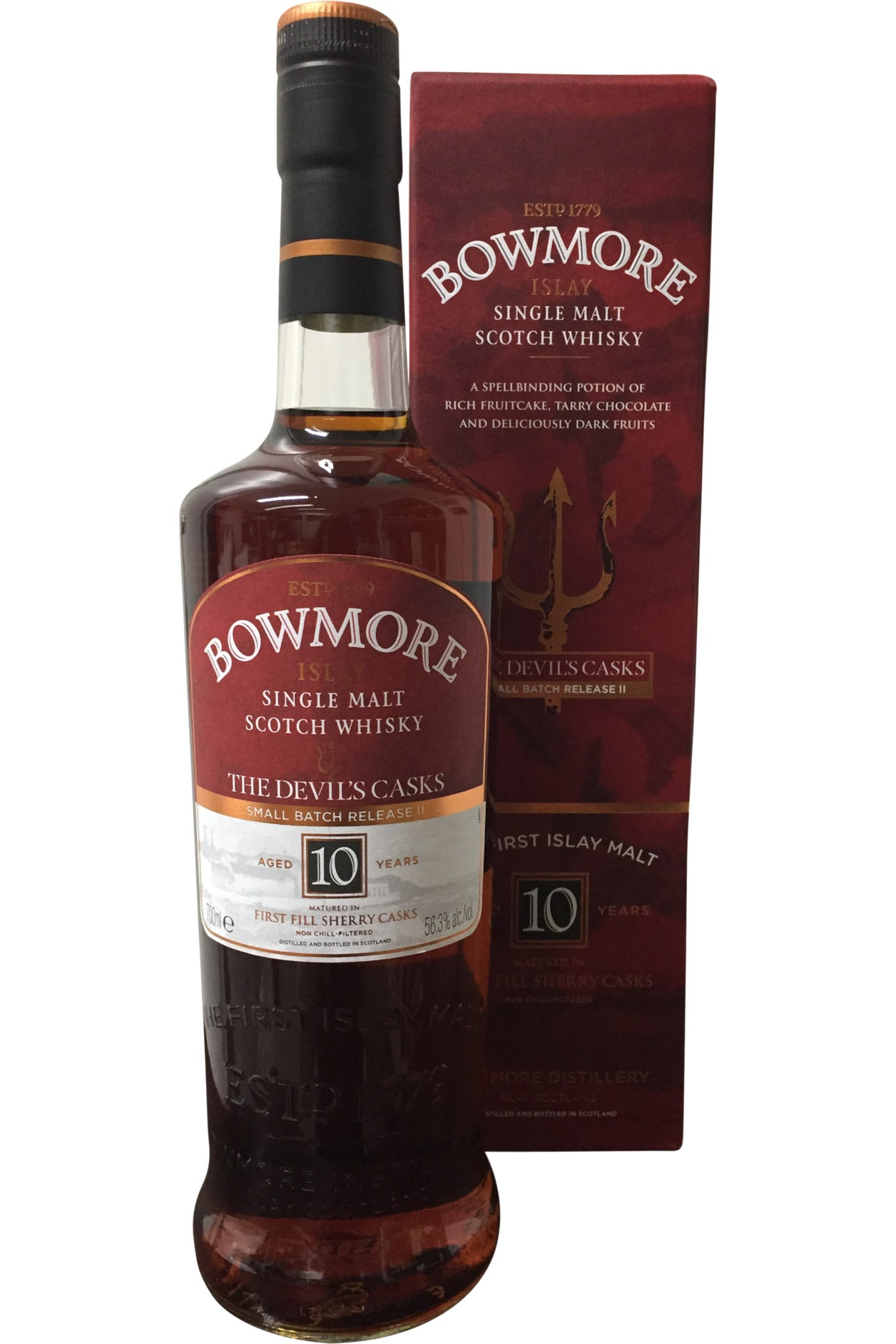 Bowmore Devils Cask 10 Year Old Small Batch Release II Whisky | 56.3% 700ml