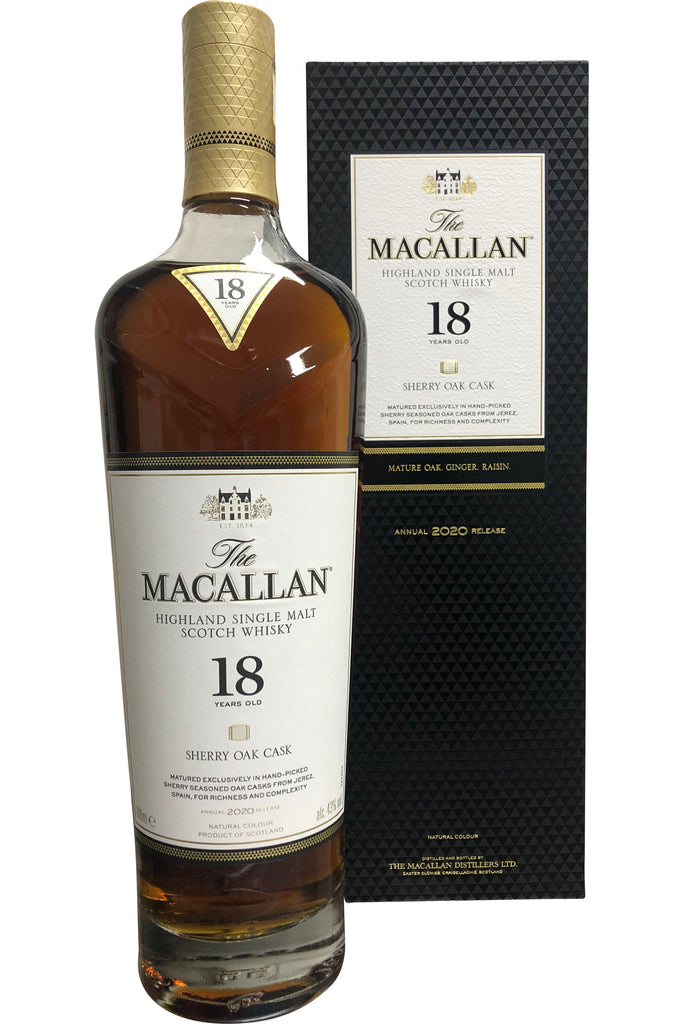 Macallan 18 Year  Old Sherry Oak Cask Whisky - 43% 700ml