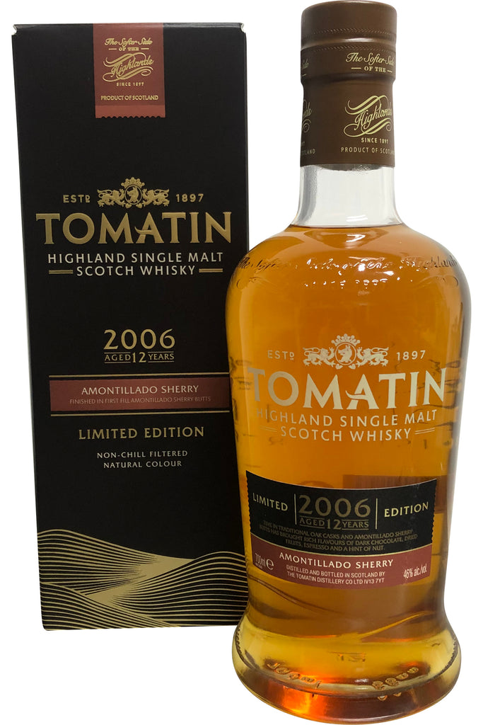 Tomatin 2006 Amontillado Sherry Cask 12 Year Old |46% 700ml  Whisky