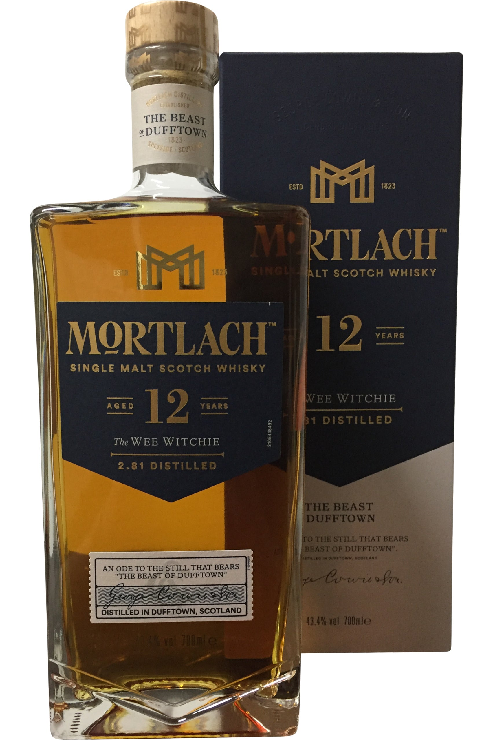 Mortlach 12 Year Old The Wee Witchie - 43.4% 700ml