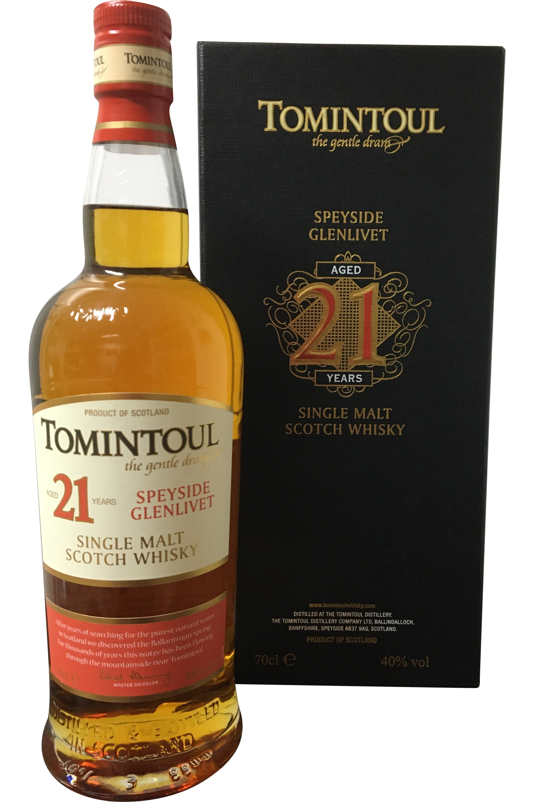Tomintoul 21 Year Old 2019 Whisky - 40% 700ml