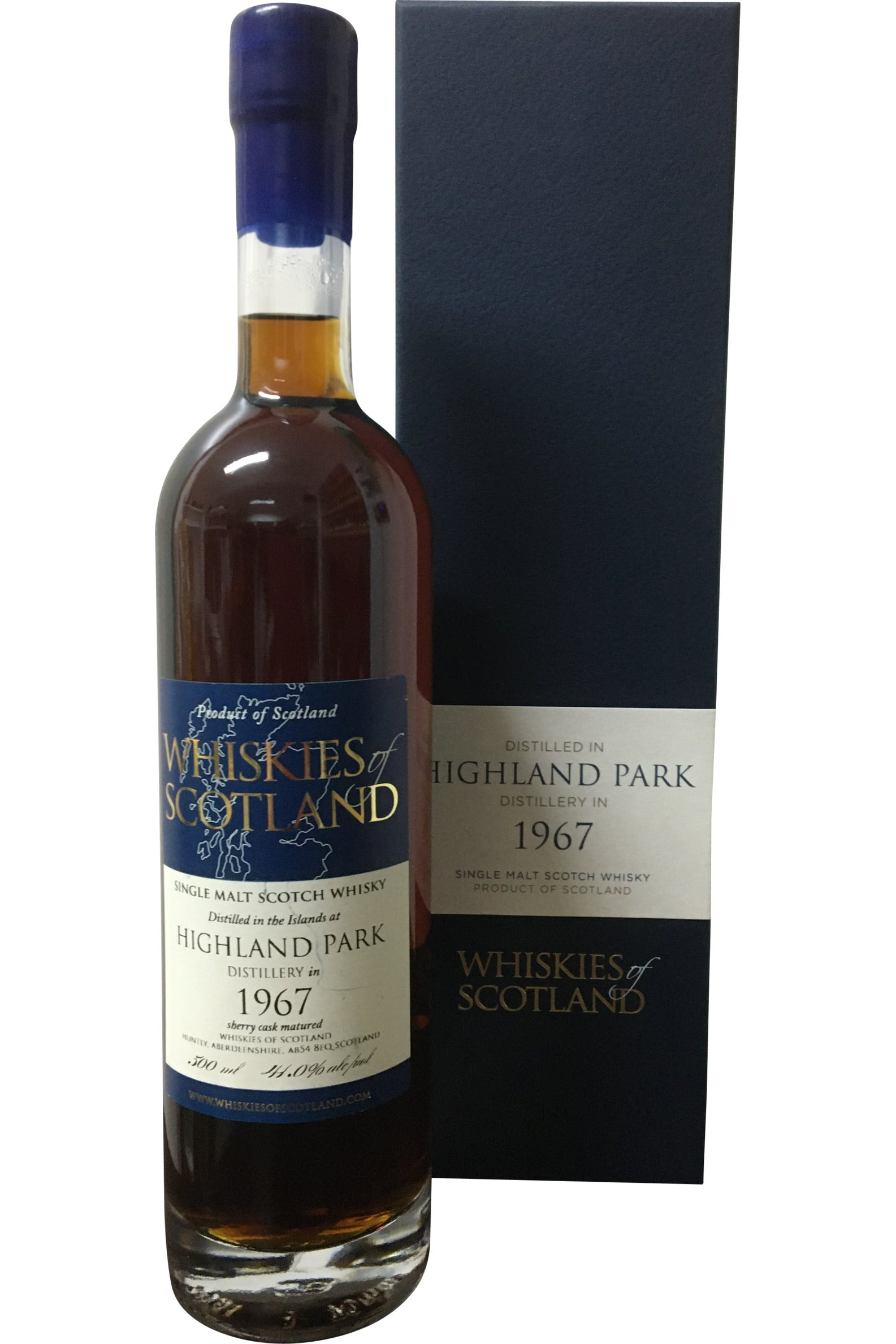 Whiskies of Scotland Highland Park 1967 - 41.0% 500ml - Award Winning