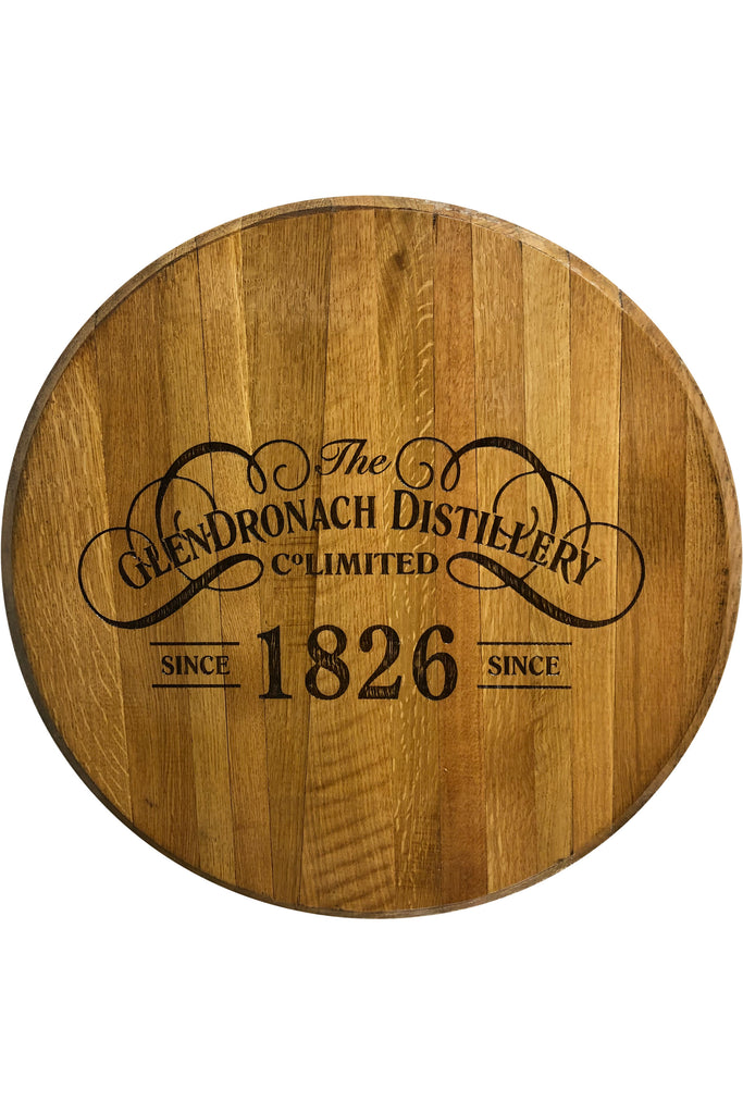 Decorative Cask End with Glendronach logo