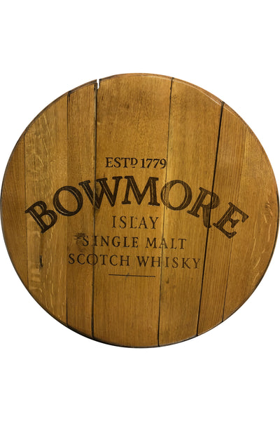 Decorative Cask End with Bowmore logo