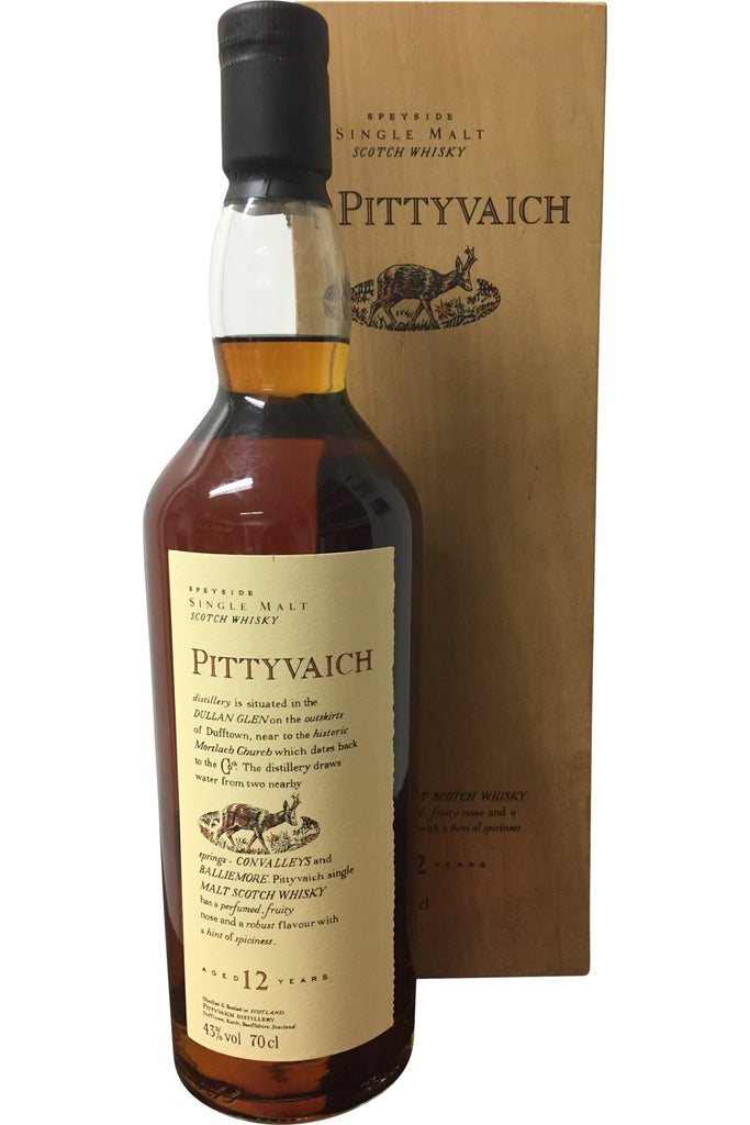 Pittyvaich 12 Year Old Flora & Fauna in Wooden Box - 43% 700ml  Whisky