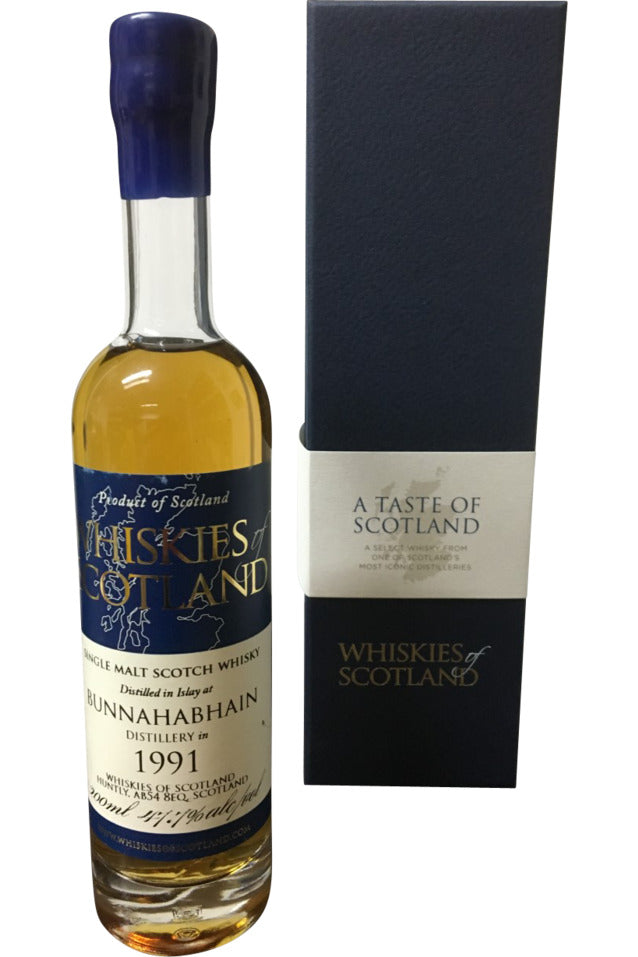 Whiskies of Scotland Bunnahabhain 1991 - 47.7% 200ml - Award Winning  Whisky
