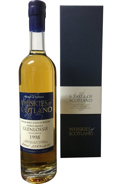 Whiskies of Scotland Glenlossie 1998 | 55.6% 500ml - Award Winning