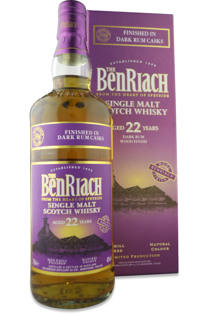 Benriach Dark Rum Cask Finish 22 Year Old | 46% 700ml  Whisky