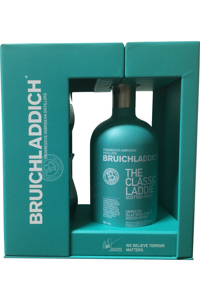 Bruichladdich The Classic Laddie Glass Pack - 50% 700ml  Whisky