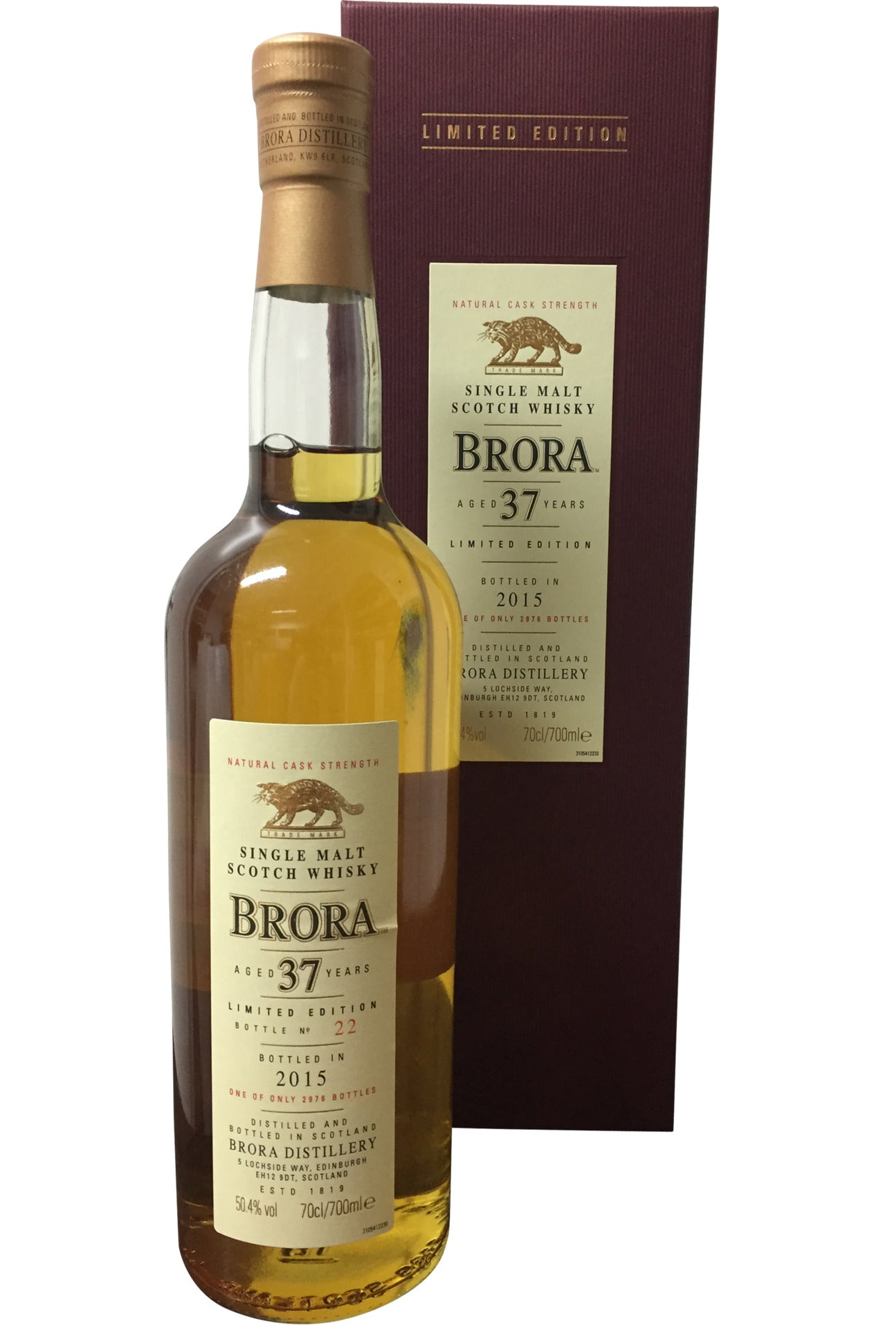Brora 37 Year Old Limited Edition 2015 | 50.4% 700ml