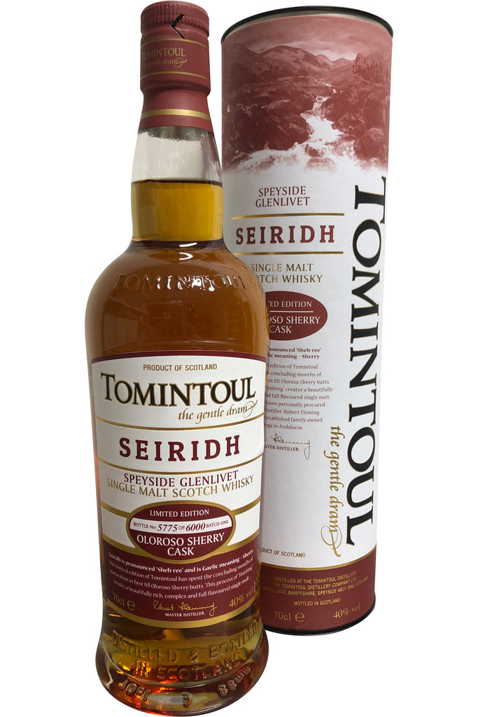 Tomintoul Seiridh Oloroso Cask Limited Edition Whisky - 40% 700ml  Whisky