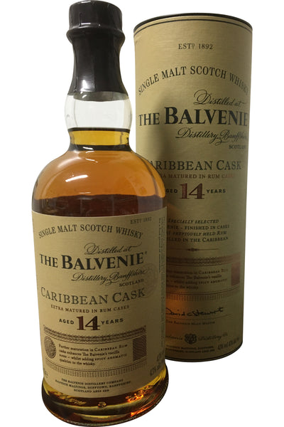 Balvenie 14 Year Old Caribbean Cask Whisky | 43% 700ml